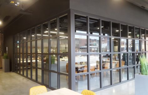 square glass conference room