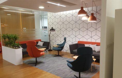 waiting room orange chairs