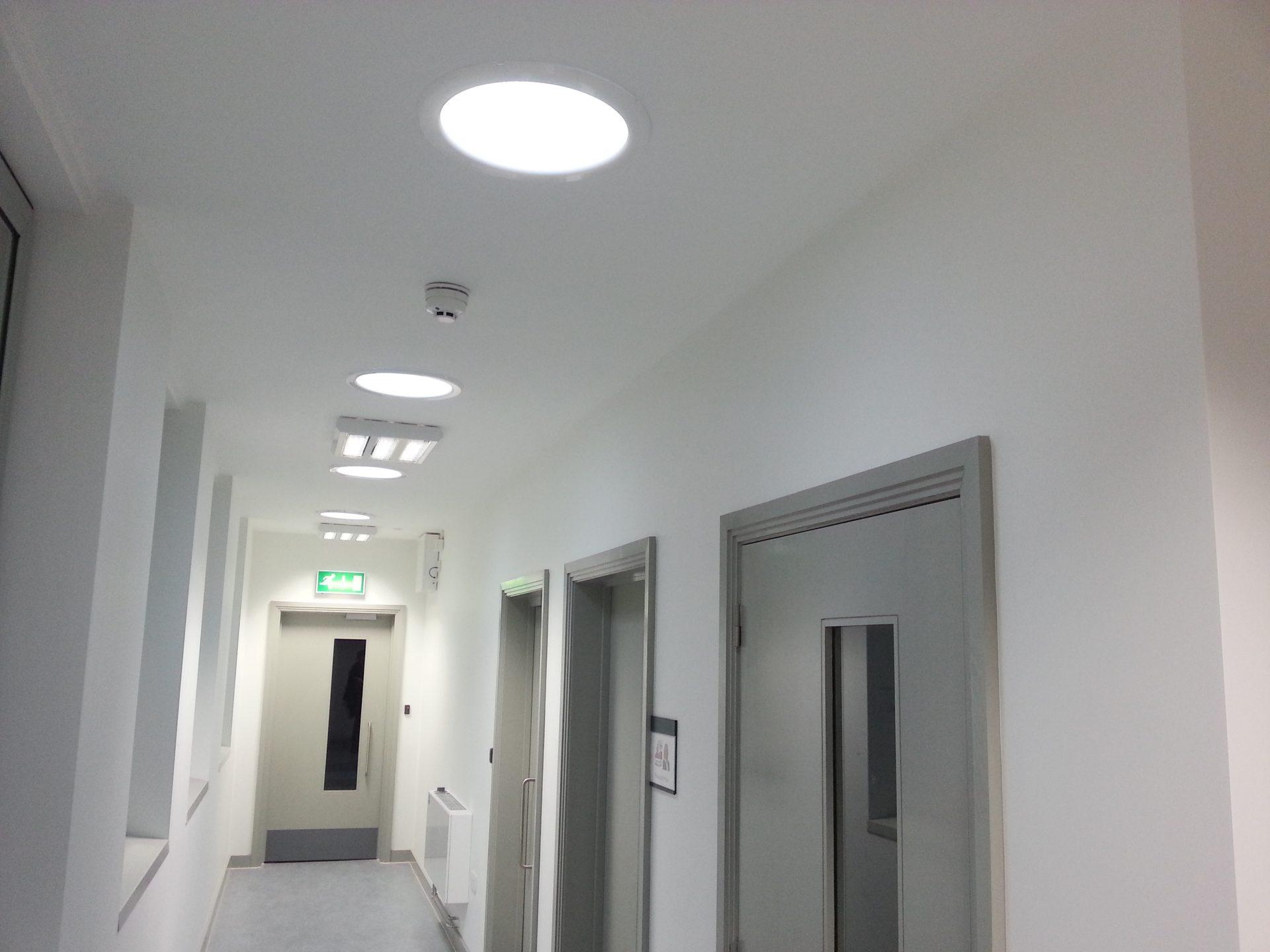 hospital lamps corridor