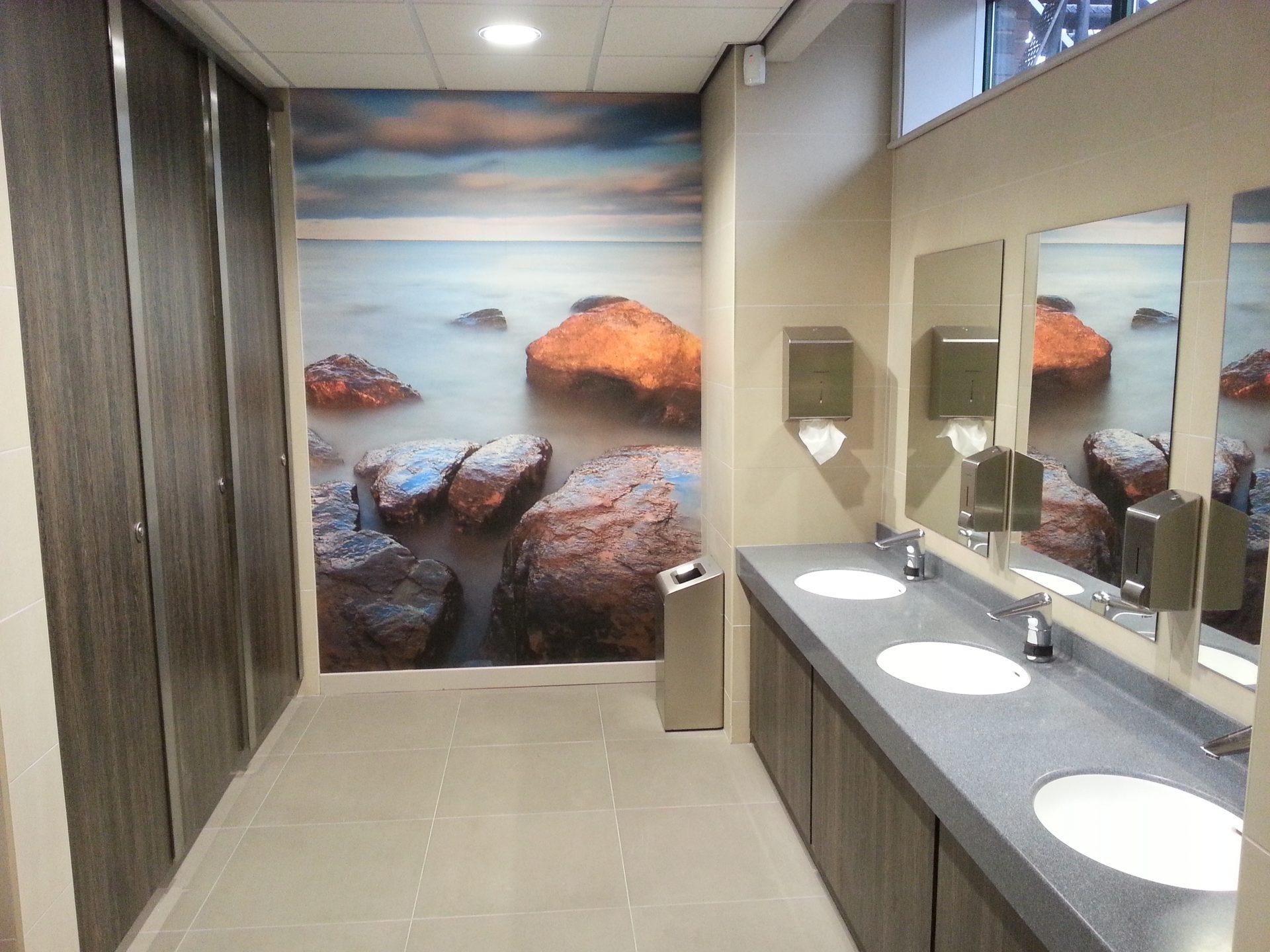 toilets photowall mist stones