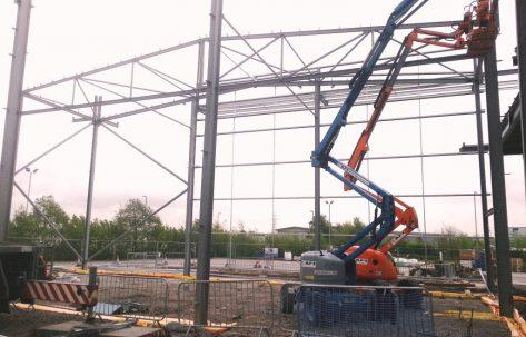 building site scissor lift