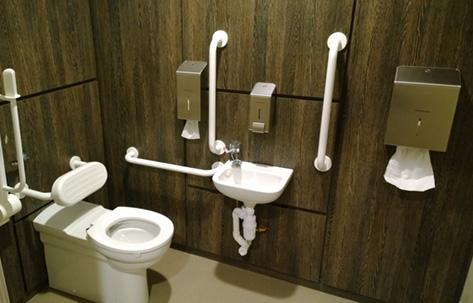 kimberley-clark-fancy-dark-wood-accessible-toilets