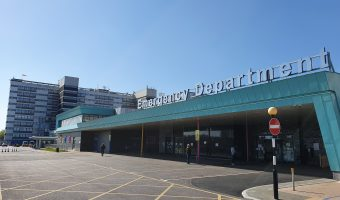 Aintree Hospital Temporary Accident and Emergency Entrance