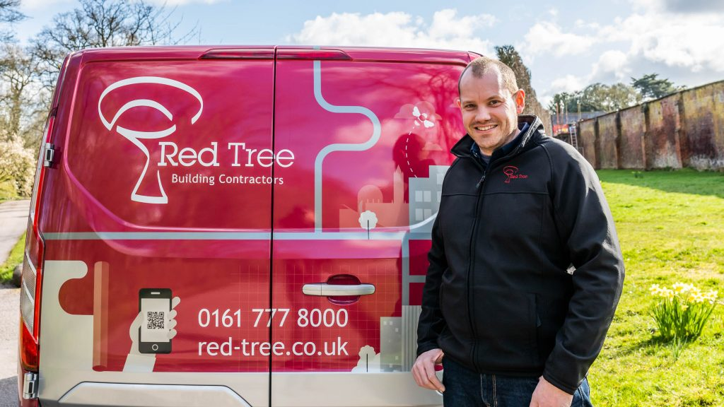 Mark Kenyon Site Manager with Red Tree Hybrid Van