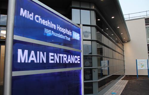 Leighton Hospital New Main Entrance